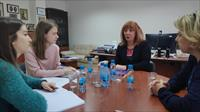 Ombudsman Dr. Jasminka Dzhumhur meets with students from the Obala Sarajevo High School and Members of the CIVITAS Section